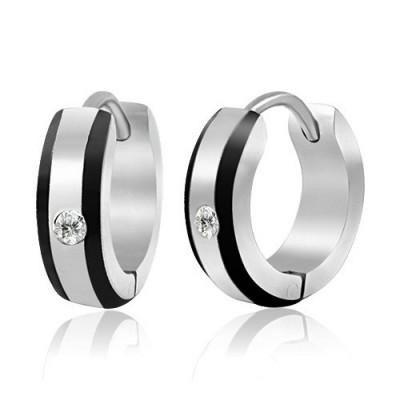 boucles d 39 oreilles homme acier vente anneau oreilles pour homme 4 zense. Black Bedroom Furniture Sets. Home Design Ideas