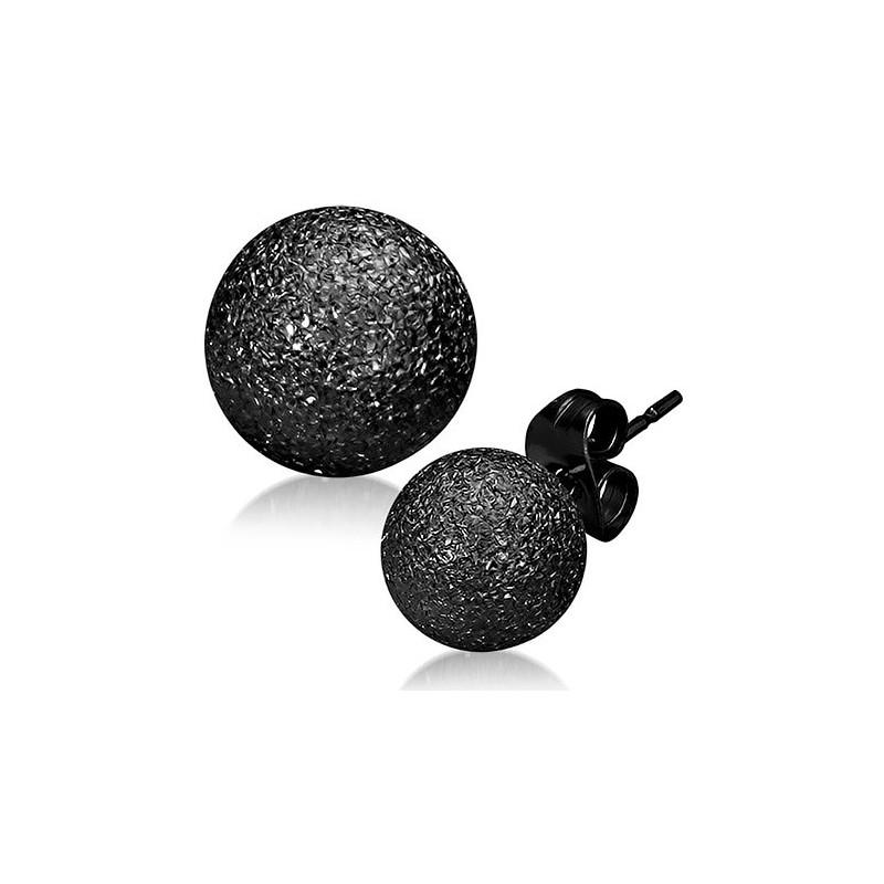 design de qualité trouver le travail achat authentique Boucle d oreille boule noir - Idées de Tatouages et piercings