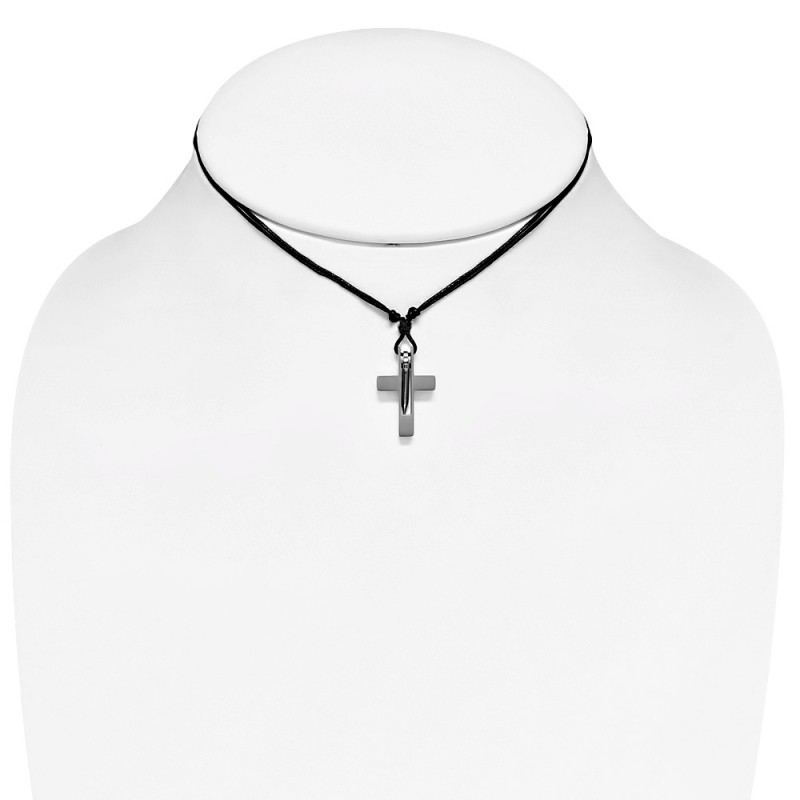 pendentif bross homme avec croix latine et clou zp0177. Black Bedroom Furniture Sets. Home Design Ideas