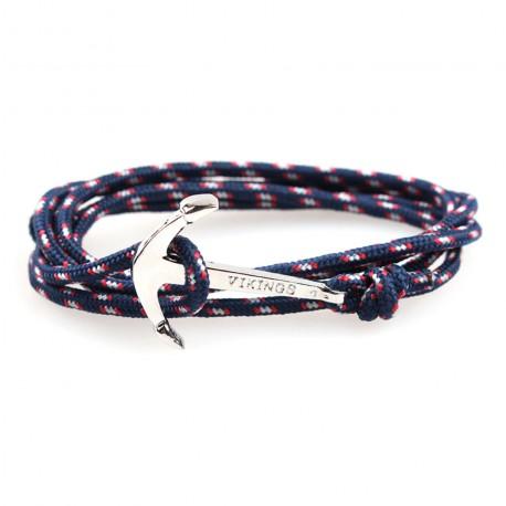Bracelet bleu ancre marine ZB0315