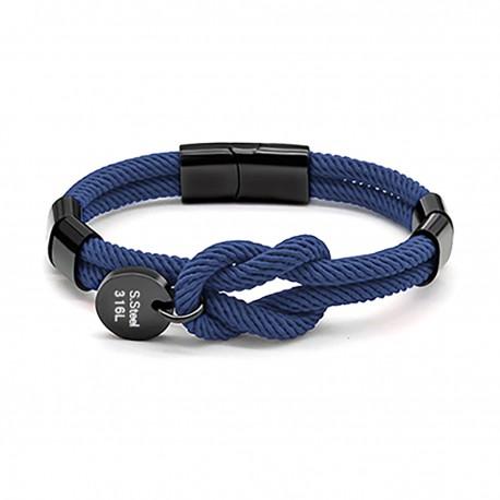 Bracelet noeud marin bleu ZB0319