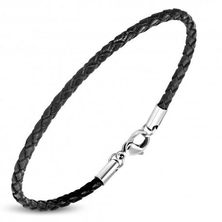 Bracelet homme cuir noir ZB0240