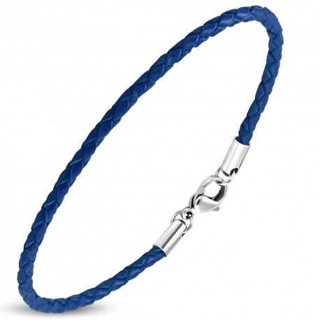 Bracelet homme cuir bleu ZB0243