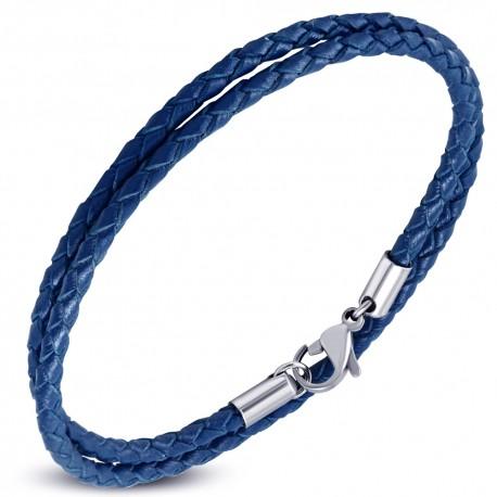 Bracelet homme cuir bleu ZB0246