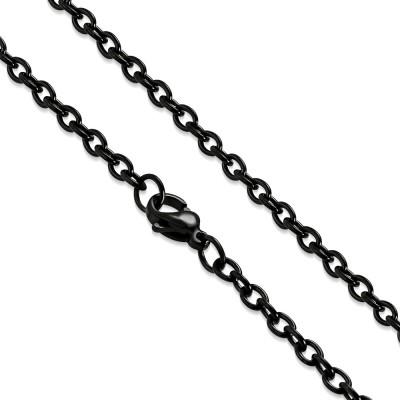 Chaîne noire maillons 51cm ZCMN51
