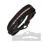 Bracelet avec lanière cuir véritable pour homme